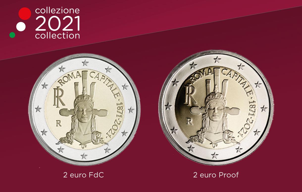 Una moneta e un francobollo celebrano i 150 anni di Roma Capitale d'Italia