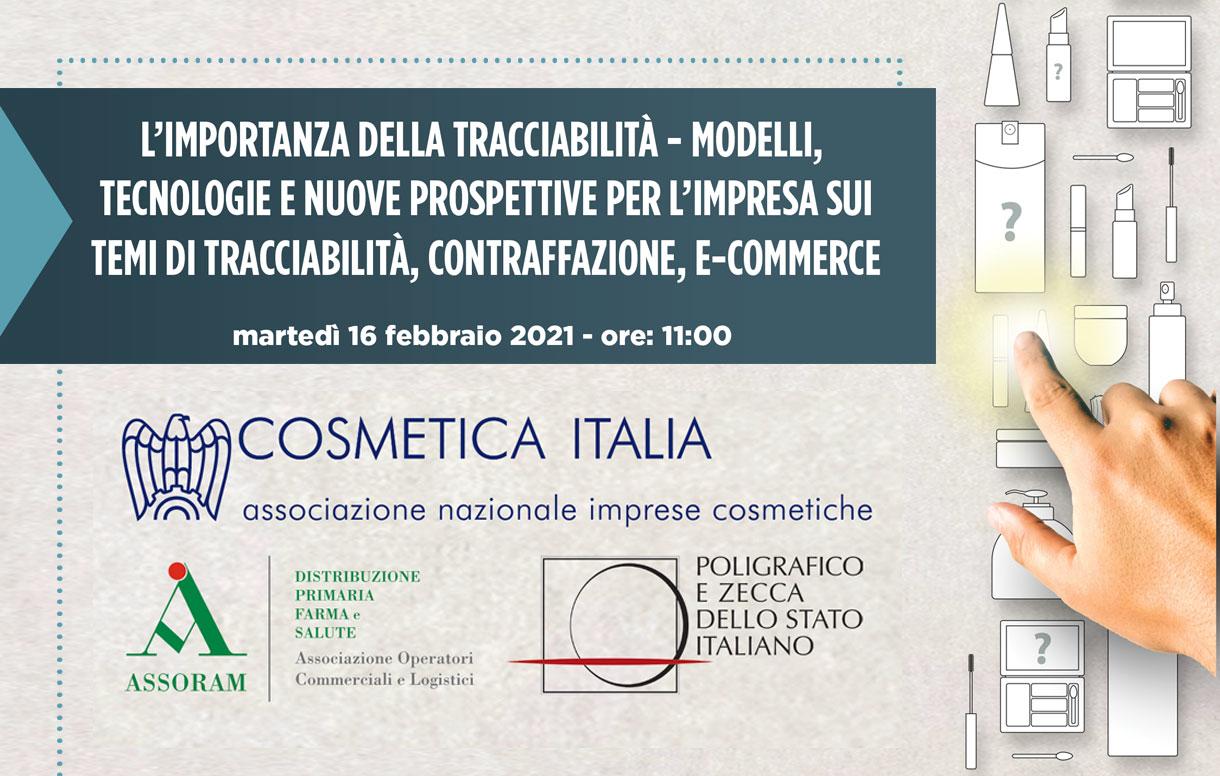 Eventi digitali: un seminario online sulla tracciabilità e l'anticontraffazione nel settore cosmetico