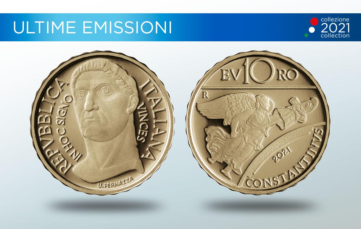 La Zecca italiana celebra l'Imperatore Costantino con una moneta ispirata alle forme dell'arte classica