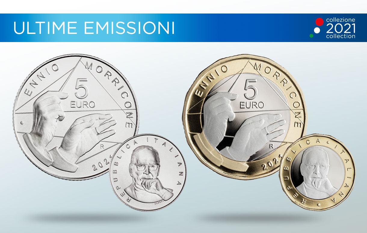 Collezione Numismatica 2021, la Zecca italiana conia una moneta in omaggio al Maestro Ennio Morricone