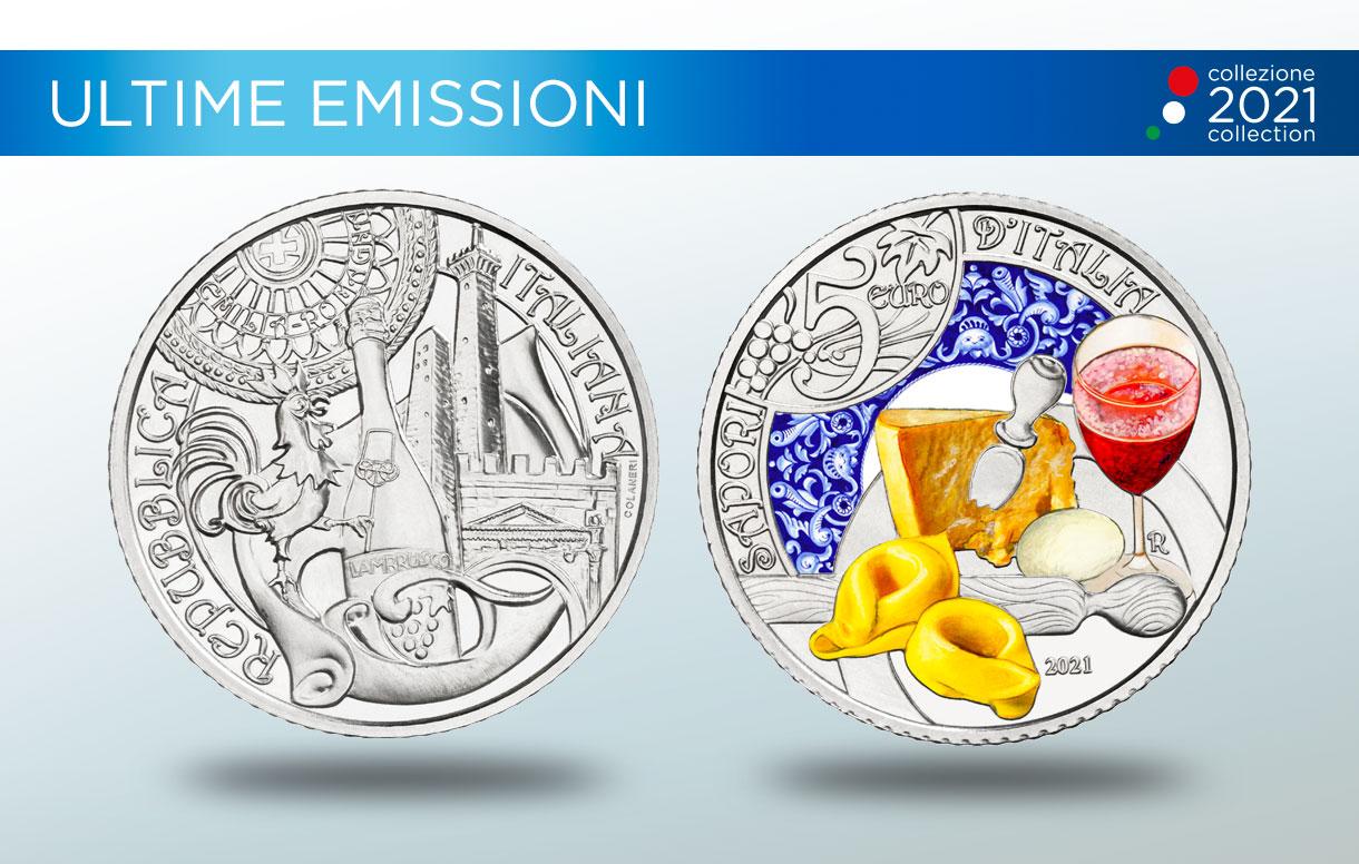 La nuova moneta della Collezione Numismatica 2021 celebra la cultura enogastronomica italiana