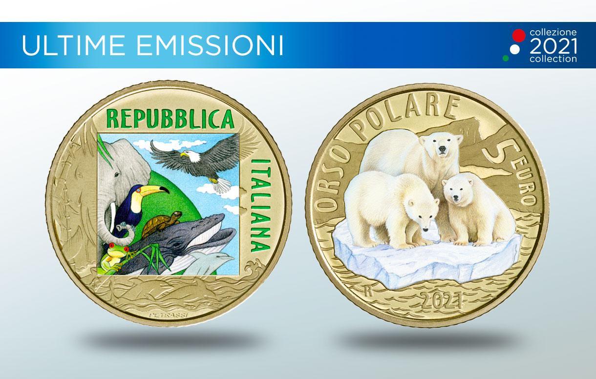 Numismatica: le nuove monete dedicate all'Orso polare, all'opera di Caravaggio e ad Antonio Meucci