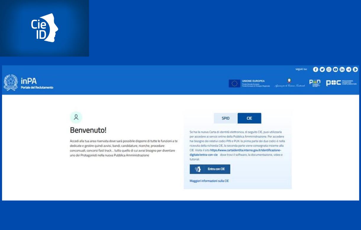 La carta d'identità elettronica per accedere al Portale del Reclutamento del personale della PA
