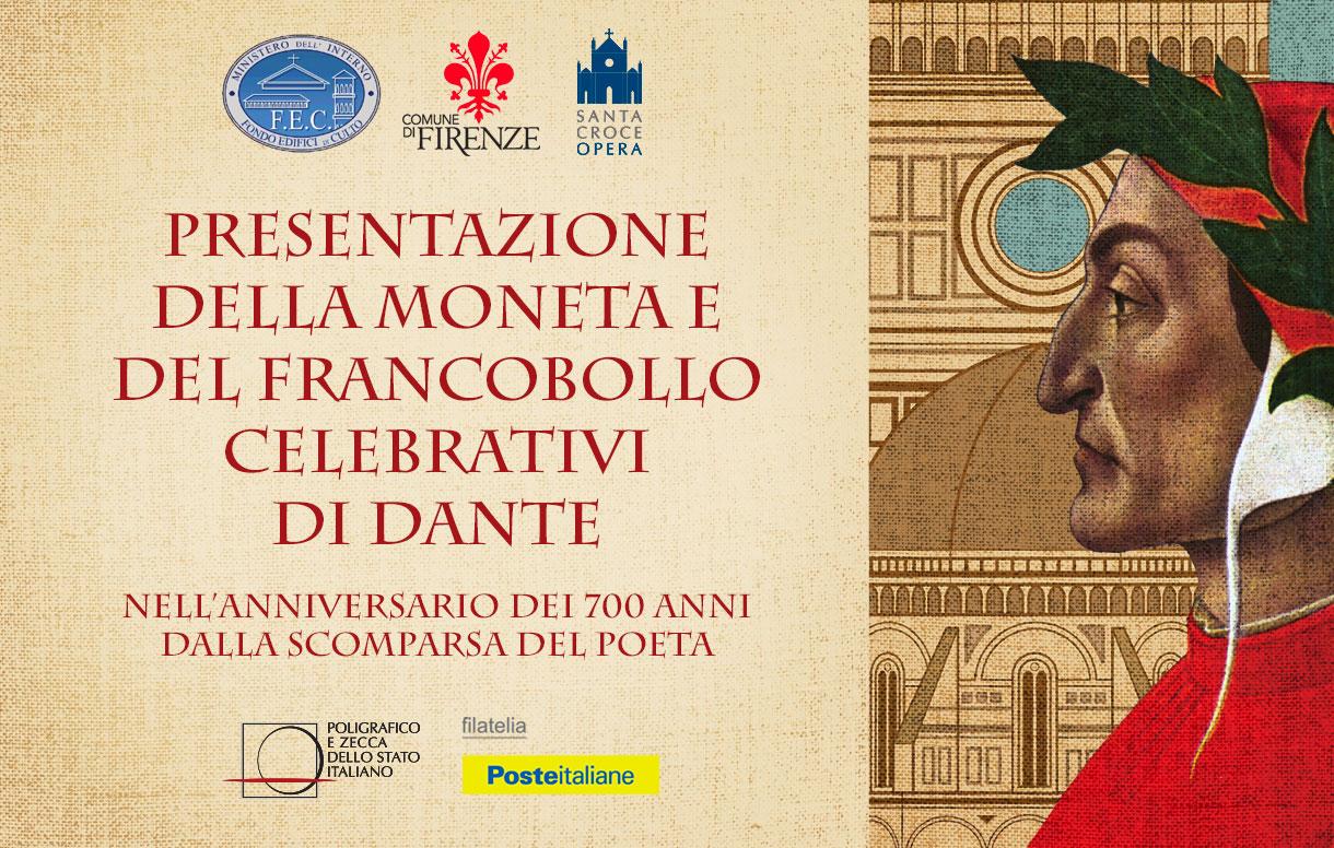 Il Poligrafico a Firenze per presentare la moneta dedicata a Dante Alighieri nel 700° anniversario della scomparsa